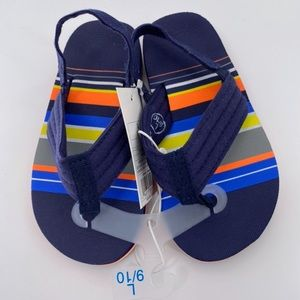NWT Cat & Jack Flip Flop/Sandals With Ankle Strap